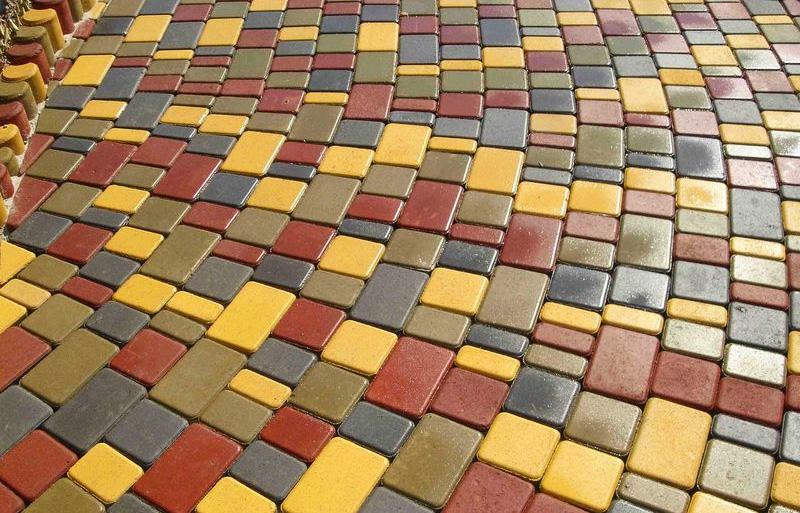 Colored pavers